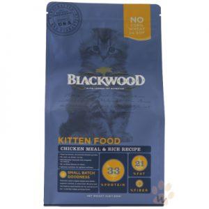 柏萊富blackwood 特調幼貓成長貓糧 雞肉加米4磅