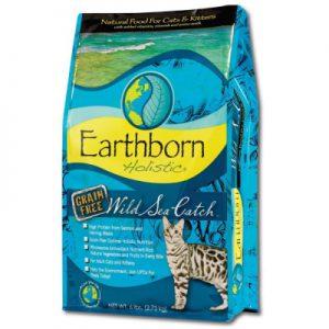 原野優越Earthborn《野生魚低敏無縠貓(鯡魚+鮭魚+蔓越莓)》5磅