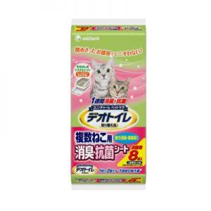 日本《UNICHARM》複數貓消臭抗菌尿布墊多貓用8片入 (兩包組)