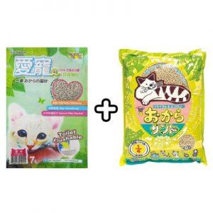 【超值組合】韋民豆腐砂7L + 愛寵綠茶豆腐砂 7L